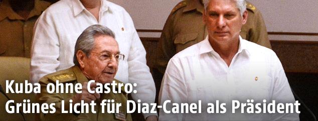 Raul Castro und Miguel Diaz-Canel