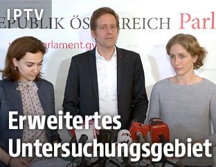 Pressekonferenz der Oppositionsparteien zum BVT-U-Ausschuss