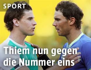 Dominic Thiem (AUT) und Rafael Nadal (ESP)