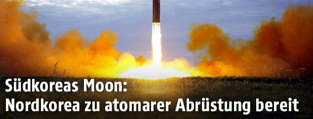 Start einer ballistischen Rakete in Nordkorea