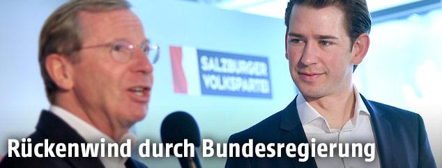 Wilfried Haslauer und Sebastian Kurz