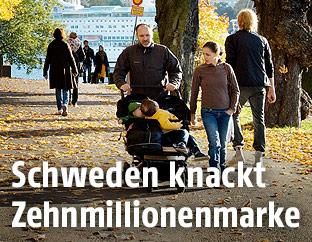 Schweden in einem Park