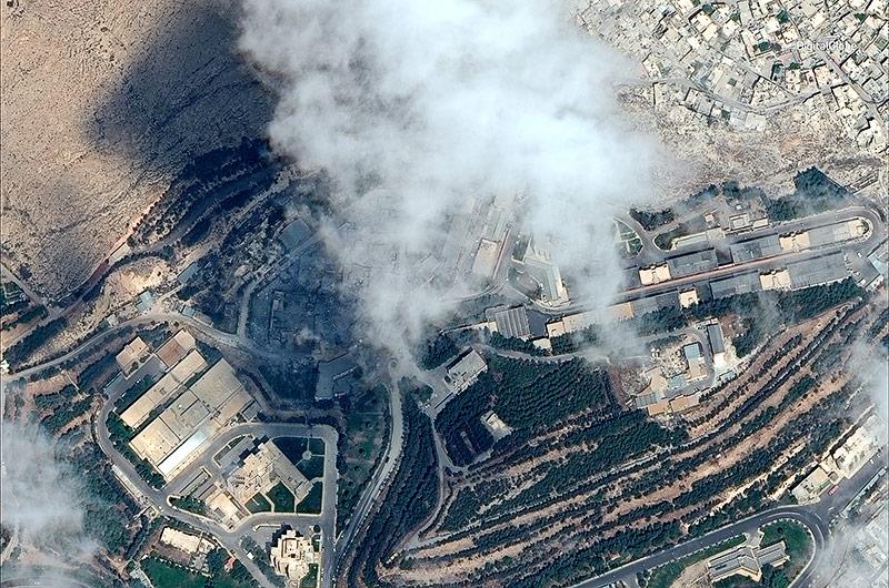 Satelittenbild zeigt die Zerstörung in Damaskus