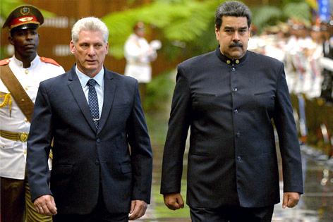 Miguel Diaz-Canel und Nicolas Maduro