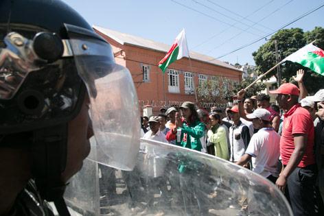 Demonstration in Madagaskar