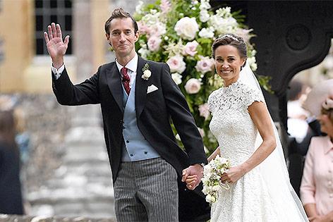 Pippa Middleton und James Matthews bei ihrer Hochzeit