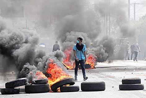 Demonstrant in Nicaragua