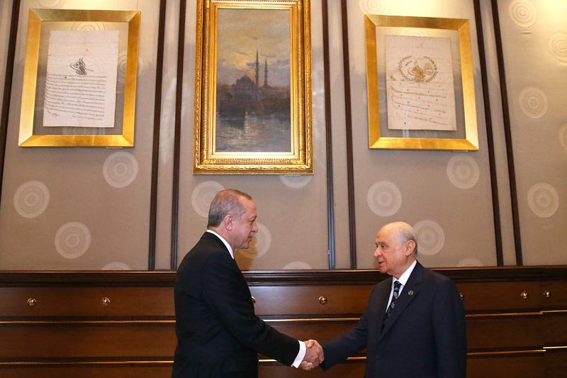 Devlet Bahceli und Recep Tayyip Erdogan