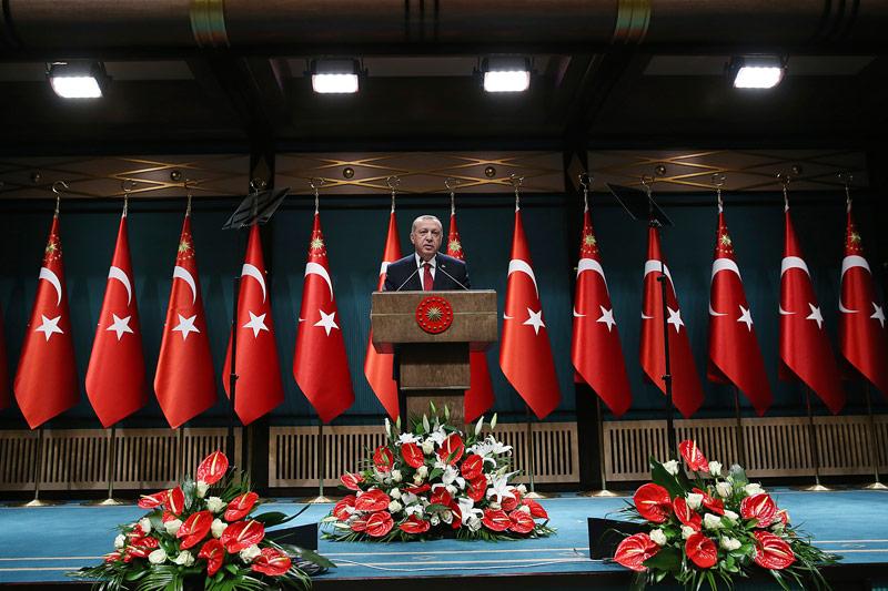 Der türkische Präsident Präsident Recep Tayyip Erdogan