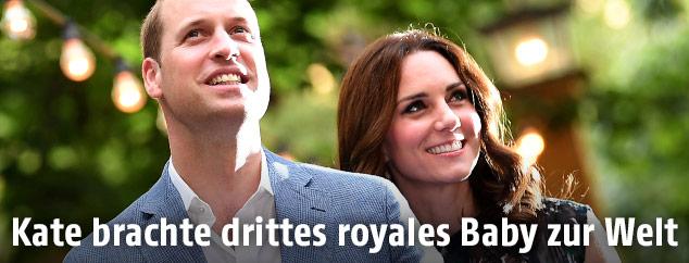 Prinz William und seine Frau Kate