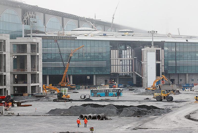 Baustelle von Flughafen