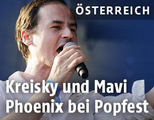 """Sänger Franz Adrian Wenzl von der österreichischen Indie-Rock Band """"Kreisky"""""""