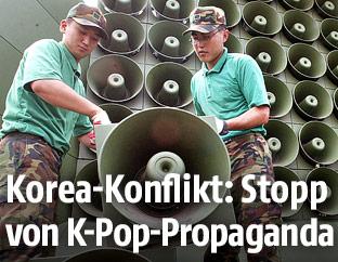 Südkoreanische Propaganda-Lautsprecher