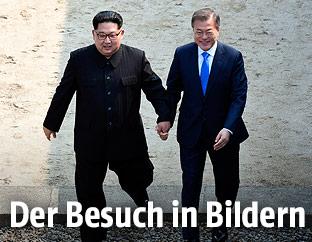 Kim Jong Un und Moon Jae-in