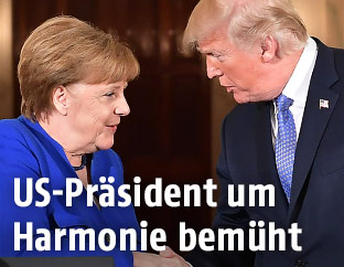Deutsche Kanzlerin Merkel und US-Präsident Trump