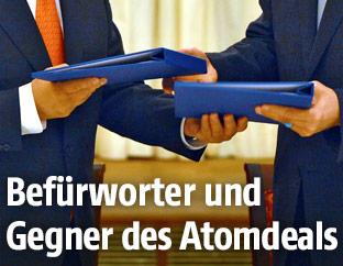 """Unterzeichnung der Atom-""""Roadmap"""" im Wiener Palais Coburg"""