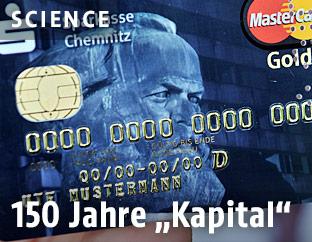 Karl Marx auf einer Kreditkarte