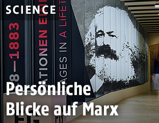 Abbildung von Marx im Stadtmuseum Trier