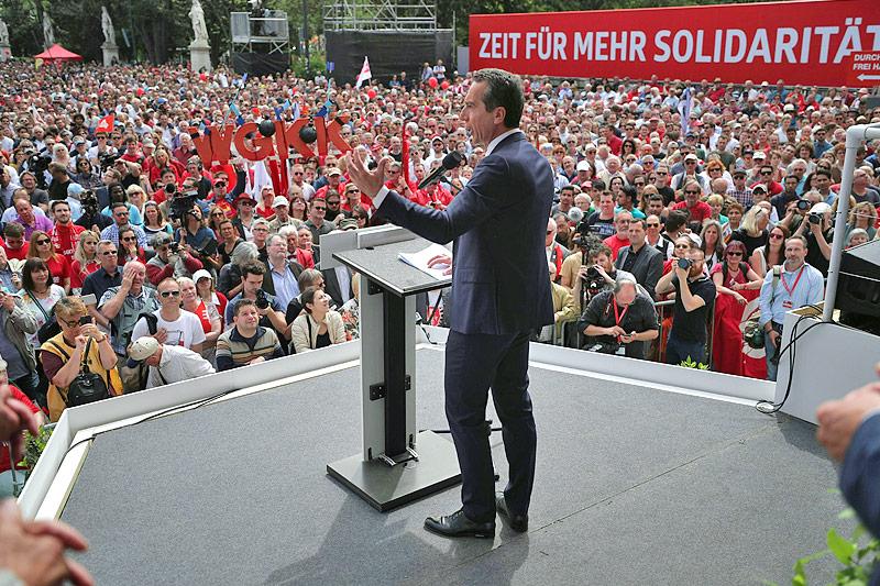Rede von SPÖ-Chef Christian Kern