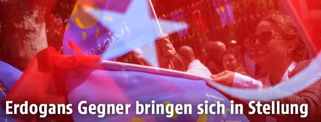 Anhänger der türkischen Oppositionspartei Iyi