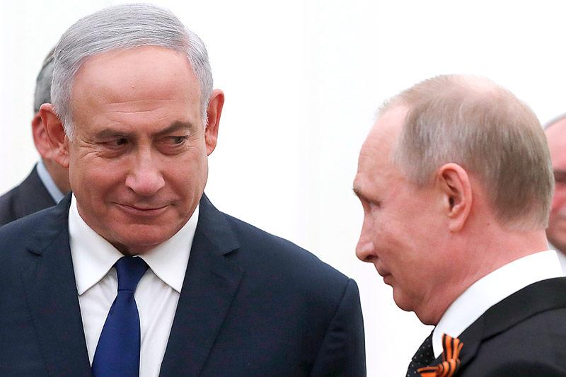 Russishcer Präsident Putin und israelischer Präsident Netanjahu