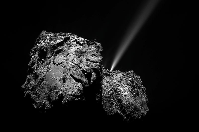 Aufnahme eines Kometen von Rosetta