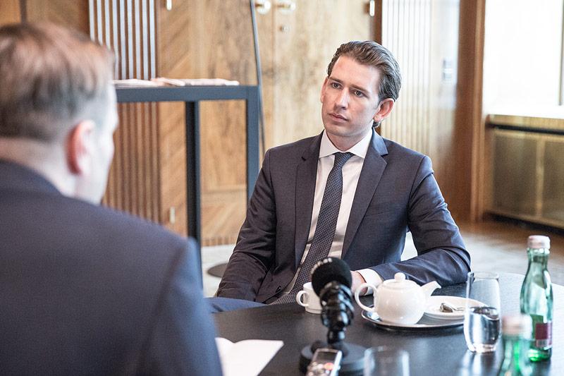 Bundeskanzler Sebastian Kurz im Interview