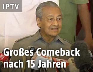Mahathir Mohamad, neuer Premier Malaysias