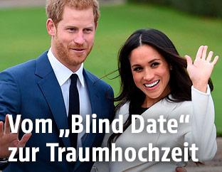 Prinz Harry und Megan Markle am Tag ihrer Verlobung