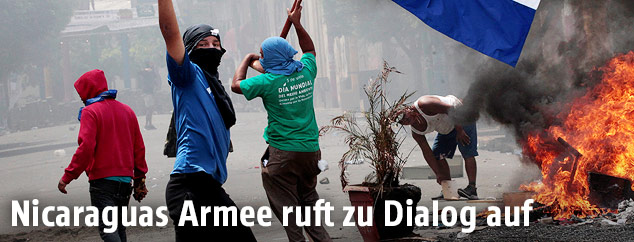 Demonstranten in Monimbo