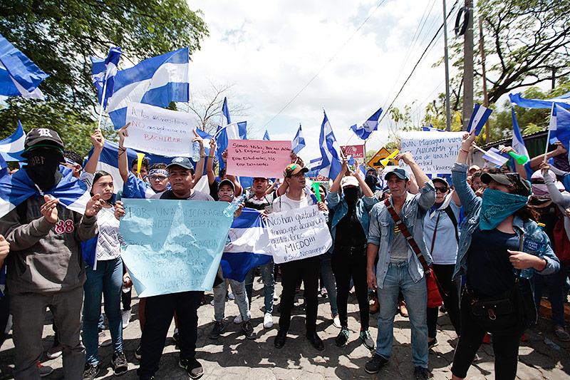 Demo in Nicaragua