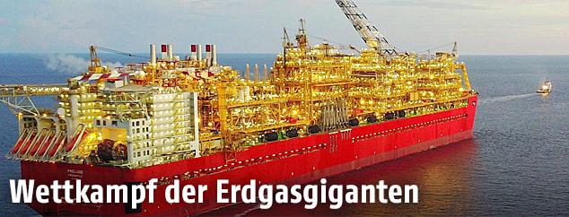 Erdgasplattform Prelude von Shell
