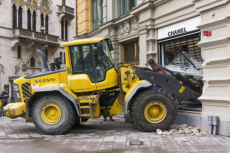 Bulldozer in Geschäft