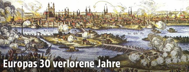 Historische Zeichnung von Magdeburg