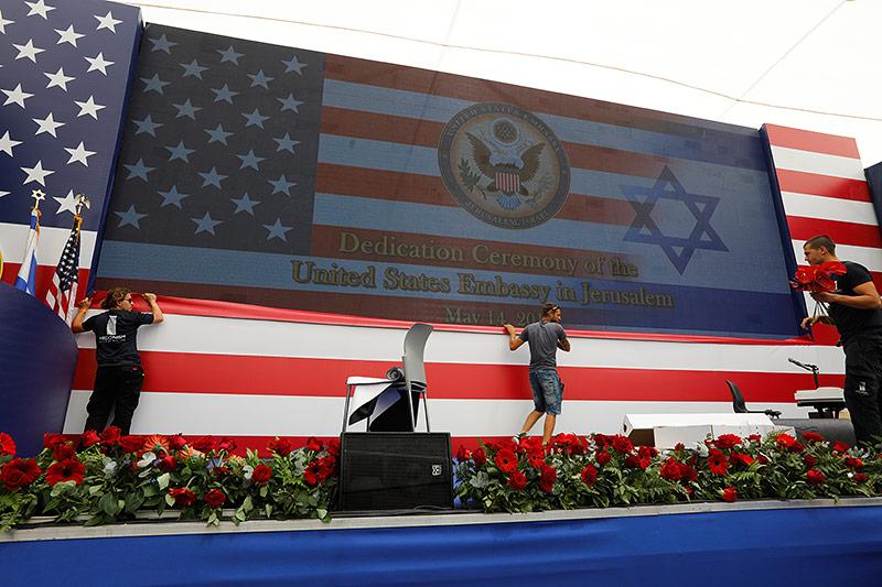 Vorbereitungen zur Eröffnung der US-Botschaft in Jerusalem