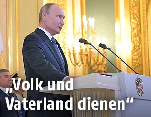 Angelobung des russischen Präsidenten Wladimir Putin