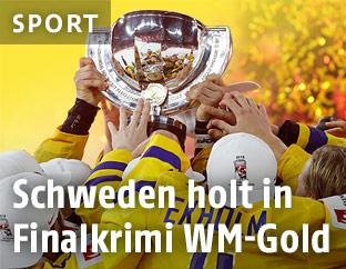 Jubel der Schwedischen Spieler