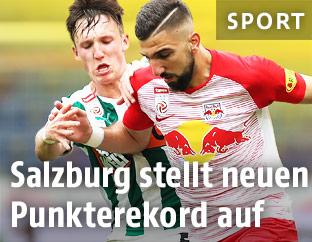 Szene aus dem Match Salzburg gegen Mattersburg