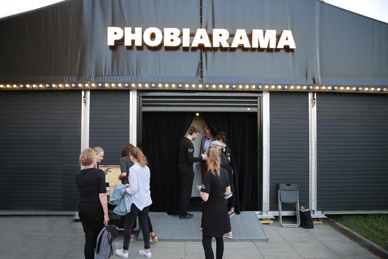 Das Phobiorama Zelt von außen