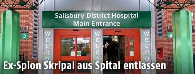 Eingang des Salisbury District Hospital