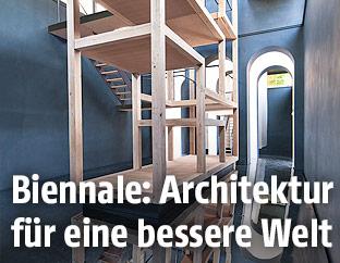 Innenansicht des österreichischen Pavillons auf der Architektur-Biennale in Venedig
