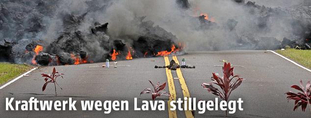 Lava auf einer Straße