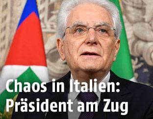 Italiens Präsident Sergio Mattarella