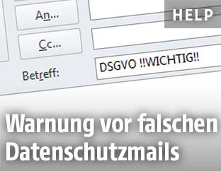 Falsches Mail zur DSGVO