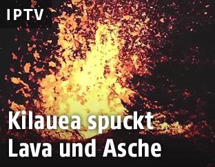 Vulkan spukt Lava