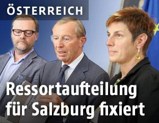 Josef Schellhorn, Landeshauptmann Wilfried Haslauer und Astrid Rössler