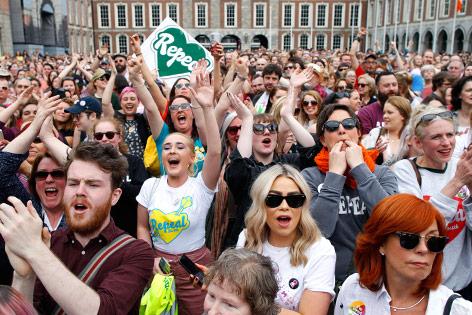 Jubel bei irischen Befürwortern von Recht auf Abtreibung