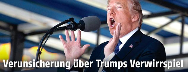 US-Präsident Trump gestikuliert