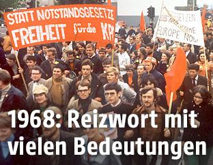 Studentendemonstration in Deutschland 1968