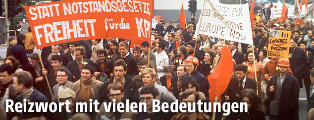 Studentendemonstration in Deutschland 1968